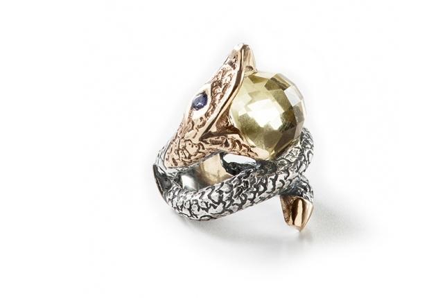 Anel prata e ouro - ASP 1128