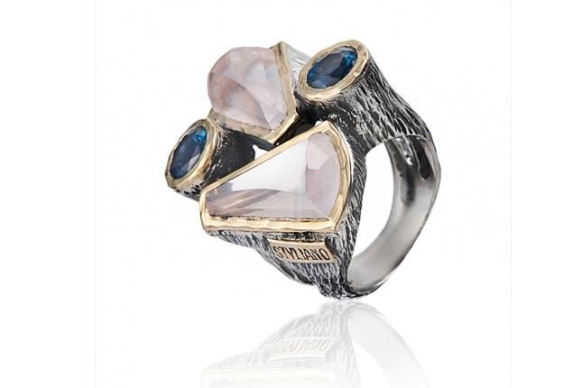 Anel prata e ouro - ASP 1295