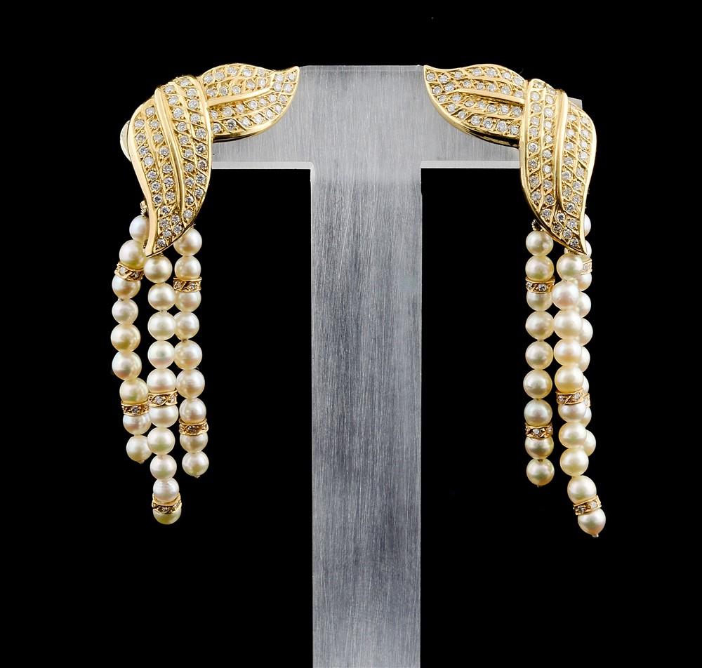 Brincos com Diamantes - Ref. 196601-1