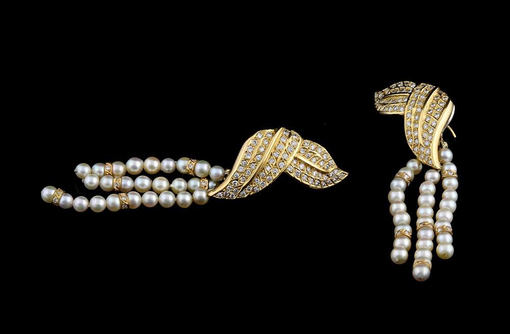 Brincos com Diamantes - Ref. 196601