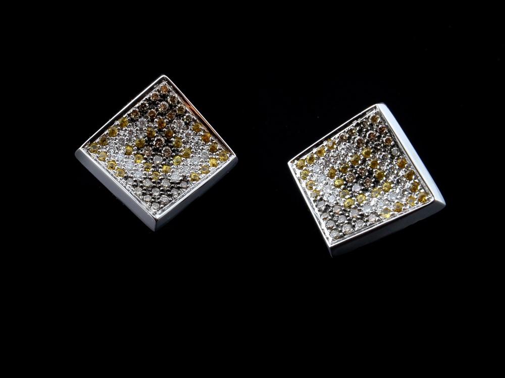 Brincos Com Diamantes - Ref. 507605-1