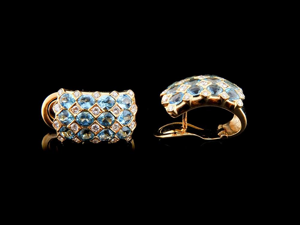 Brincos Com Diamantes - Ref. 559402-1