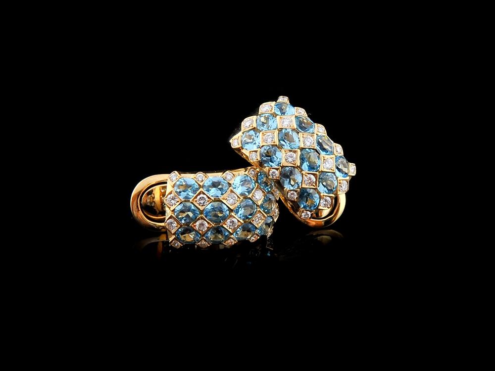Brincos Com Diamantes - Ref. 559402