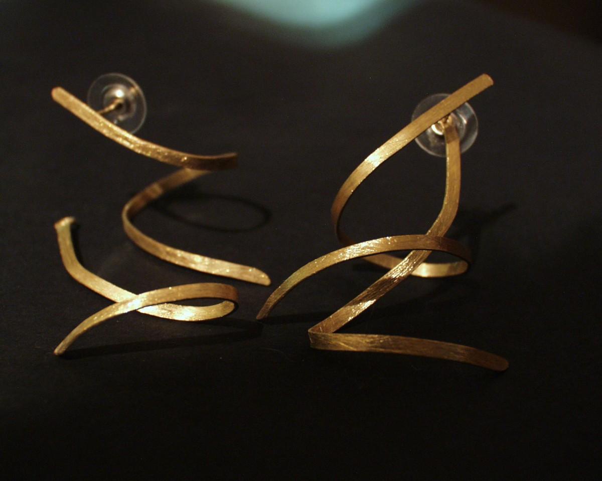 Brincos em ouro