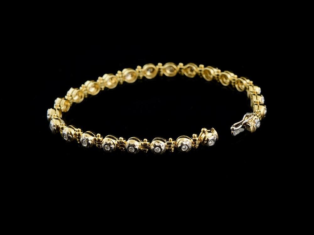 Pulseira com Diamantes - Ref. 648002-1