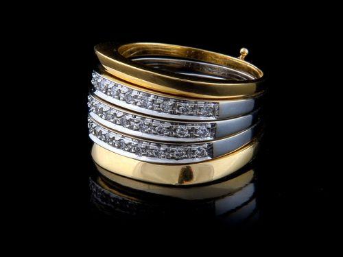 Anel com Diamantes - Ref. 089101