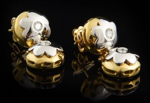 Brincos com Diamantes - Ref. 648003