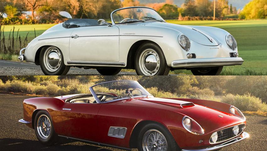 Classics Ferrari and Porsche