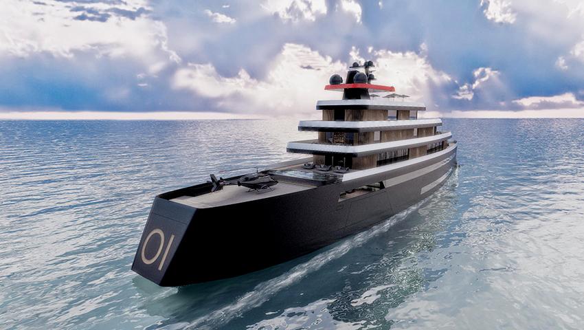 yacht de luxo de 107 m com 7 decks